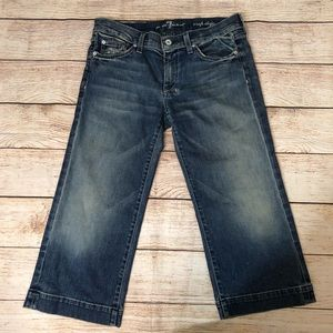 7 For All Mankind Cropped Dojo Jeans 28
